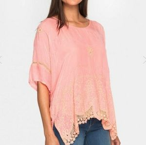 Johnny Was - Princess Embroidered Top Coral …